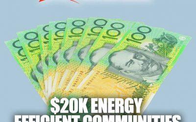 Energy Efficient Communities Program $20k grant